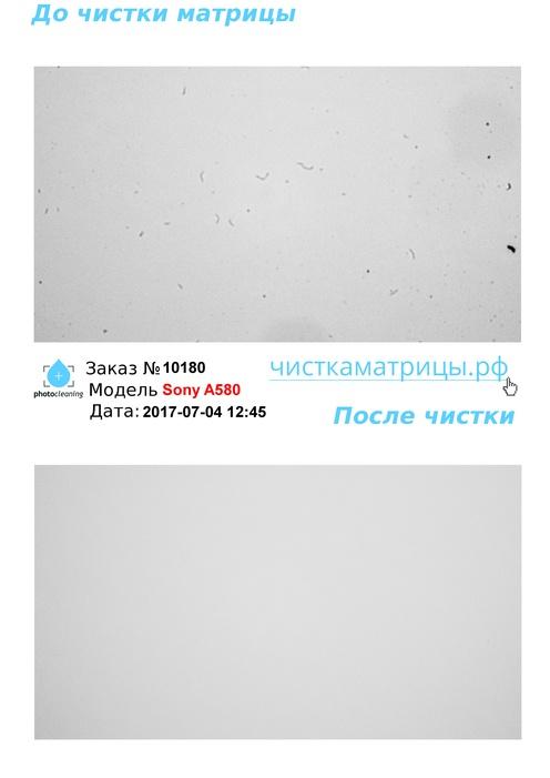 Чистка матрицы Sony A580