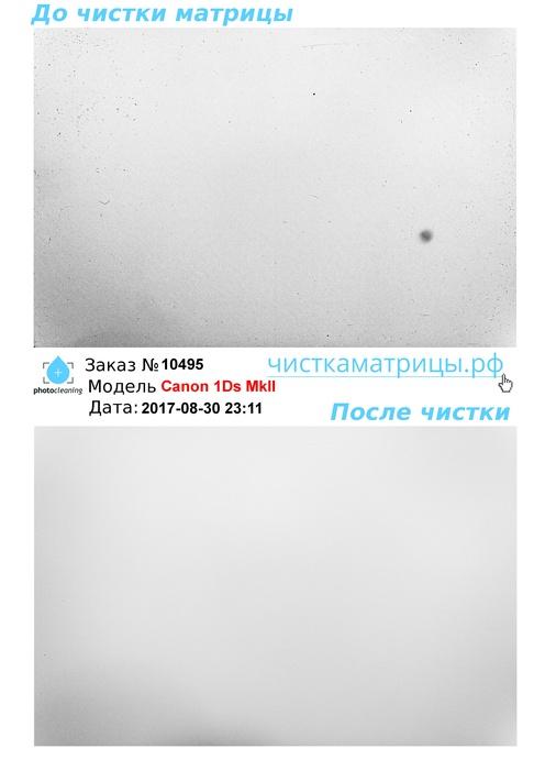 Чистка матрицы Canon 1Ds MkII